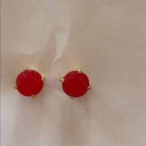 Kate Spade gum drop earrings- pink